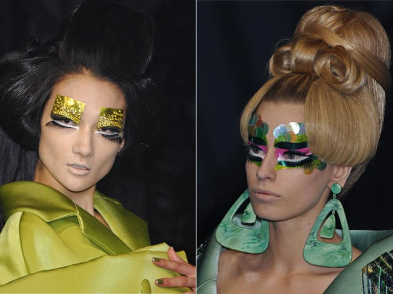 Dior runway hair and makeup artistry is a great resource to pull ideas from.
